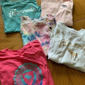 Little girls long sleeve Abercrombie shirts